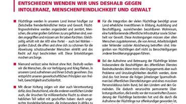 Erklärung Weltoffenheit Flüchtlinge ver.di Dortmund und weitere