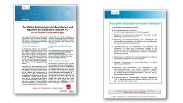 Info Forderungen Berufliche Bedingungen Telekom-Beamte