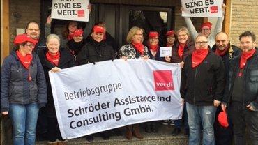 Aktion für Tarifvertrag bei Schröder Assistance und Consulting