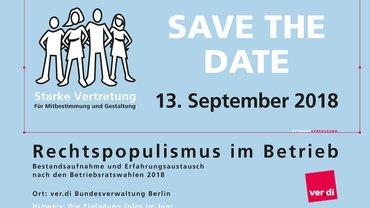 Konferenz Rechtspopulismus im Betrieb 13.09.2018