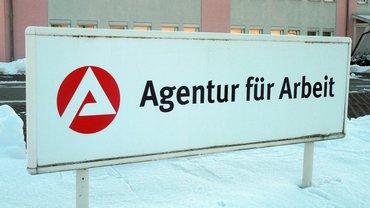 Agentur für Arbeit Bundesagentur BA Schild