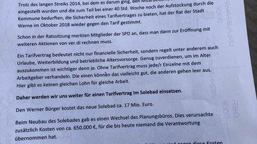 Info zur Eröffnung des neuen Solebades in Werne