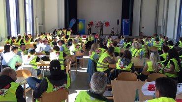 Warnstreik am 13.05.2015 in Dortmund zur Tarifrunde Groß- und Außenhandel NRW