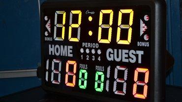 Eine Punktetafel aus dem Basketball