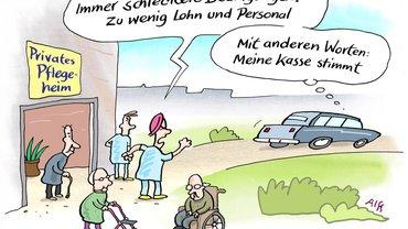 Altenpflege Comic Gute Arbeit Pflege