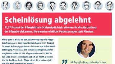 Gesundheit Soziale Dienste Wohlfahrt und Kirchen (ver.di), Pflegekammer, Pflegeberufekammer Schleswig-Holstein,