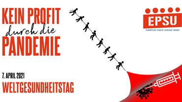 Logo mit Aufschrift: Kein Profit durch die Pandemie