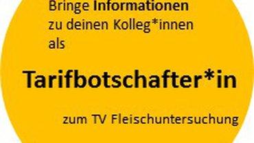 Logo Tarifbotschafter*in zum TV Fleischuntersuchung