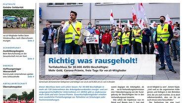 Report Magazin Ver- und Entsorgung, Cover Ausgabe 03/2021
